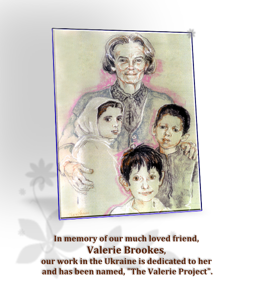 Valerie Brookes with children
